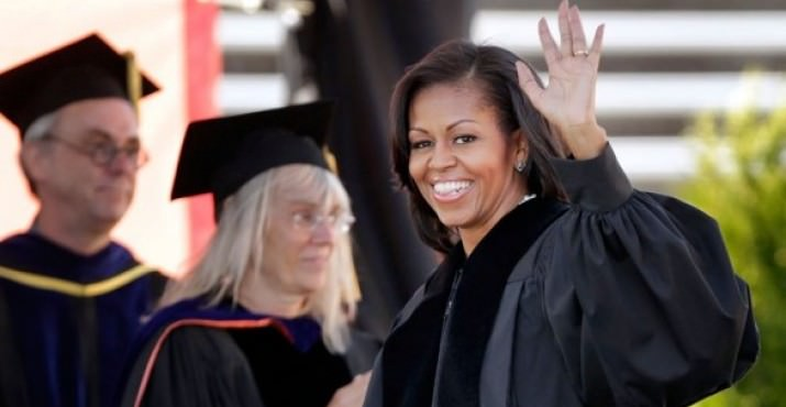 Michelle Obama was the keynote speaker at the main graduation ceremony for Oregon State University on Sunday, June 17, 2012.