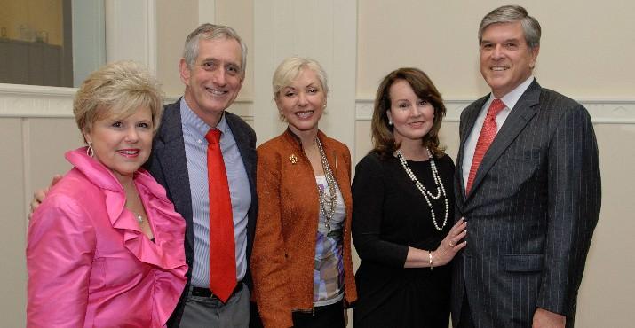 Judy Cushing, CEO Lines for Life; Mayor Charlie Hales, Nancy Hales, Sharon Smith and Senator Gordon Smith