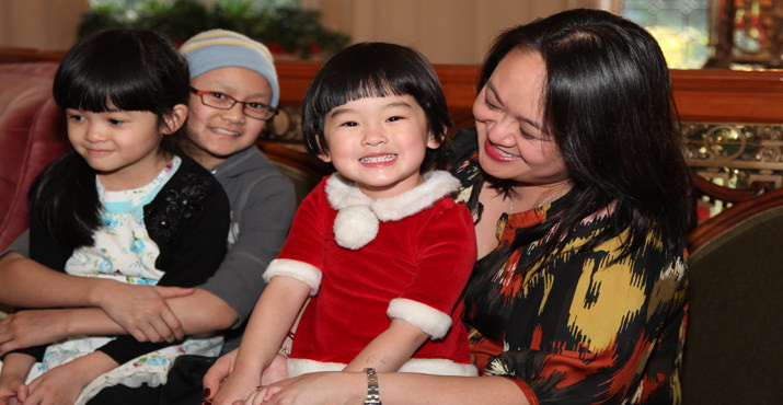 Families visit the Pittock Mansion during the holidays
