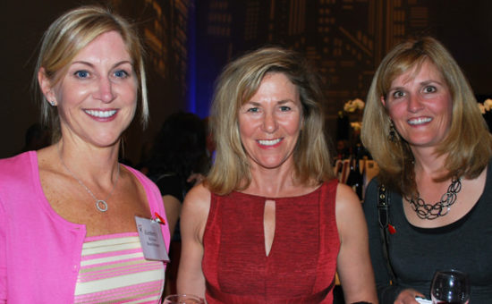 Kimberly McAlear, the Presiident of the Board of Directors, is pictured with Nancy Miller and Julie Richards