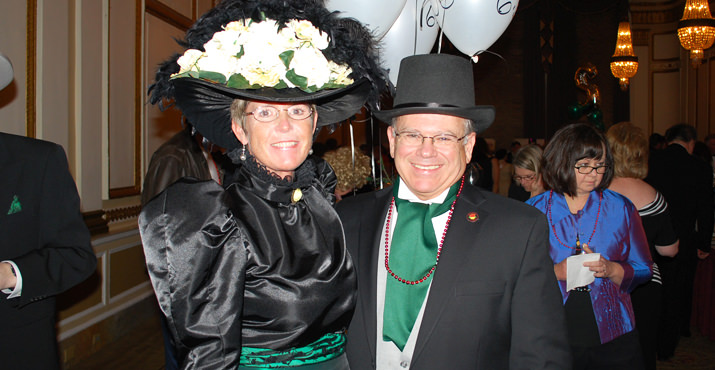 Sue and Dennis Bunday can in costume to supported the Royal Rosarian Foundation