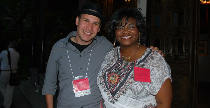 Graeme Byrd from net Impact with Kimberlin Butler from Grantmakers for Education
