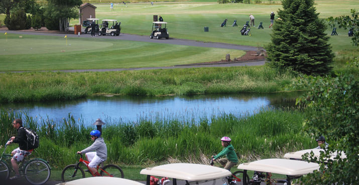 Golf and biking in the summer sun is a family tradition for many.