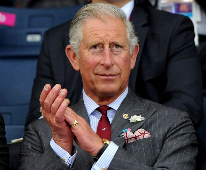 HRH Prince Charles, Prince of Wales watches Badminton on Day 1 of the London 2012 Olympic Games at Wembley Arena on 28 July 2012