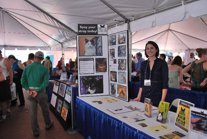 Reps from the Feral Cat Coalition of Oregon explained their work on behalf of local cats and kittens.
