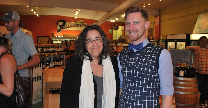 Author, Laurie Wolf with Patrick Duncan from Powell's