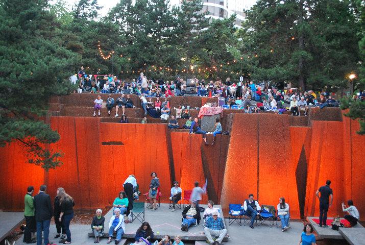 Hundreds enjoy the open air festival.