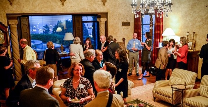 Guests gathered in the beautiful and historic home of John and Kim Bradley to celebrate DoveLewis Emergency Animal Hospital. John Bradley, CEO of R&H Construction, was involved in the design and construction of the DoveLewis Hospital on Northwest Pettygrove.
