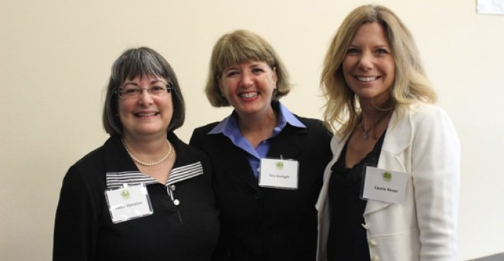 Jackie Hampton and Tina Bodaghi of Western Family Foods and Laurie Reser of Reser's Fine Foods were speakers at the Washington County Harvest Breakfast