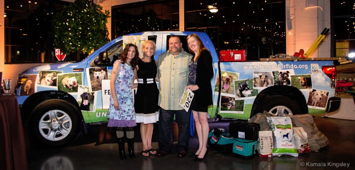 Toyota Truck Wrap: Last summer, Fences For Fido won a Toyota Tundra pickup through the Toyota 100 Cars for Good campaign, and Tommy's Window Tinting donated a full truck wrap, which was debuted at the gala.