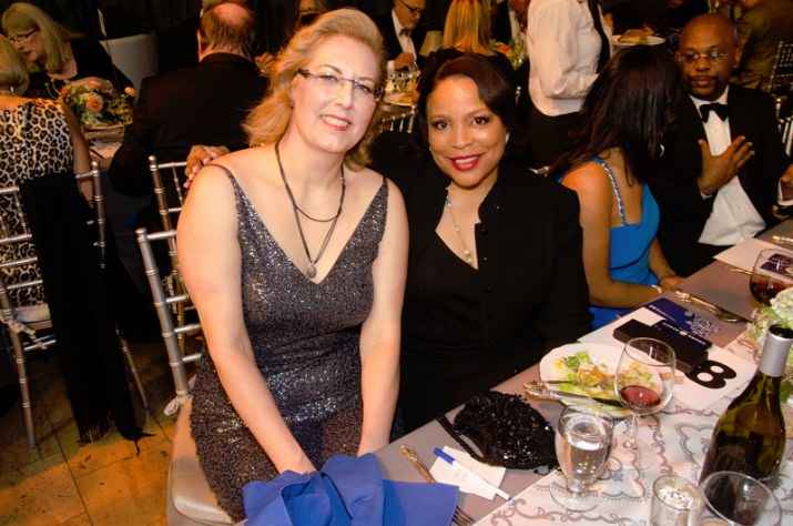 Legacy Emanuel Medical Center Chief Administrative Officer Lori Morgan, M.D., and Commissioner Loretta Smith.