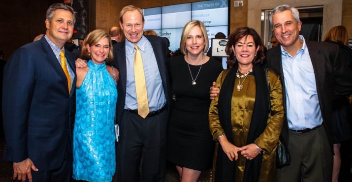 OHSU Foundation President Keith Todd with DA Davidson's Kevin Director and wife Geni, Mary Turina and Pendleton Woolen Mills' Charlie Bishop and wife Meg. Kevin and Meg both sit on the Doernbecher Foundation Board.
