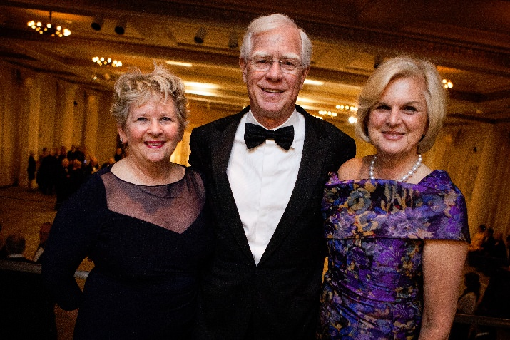 Cathy Rudd, Fred and Gail Jubitz. Gala Co-Chairs