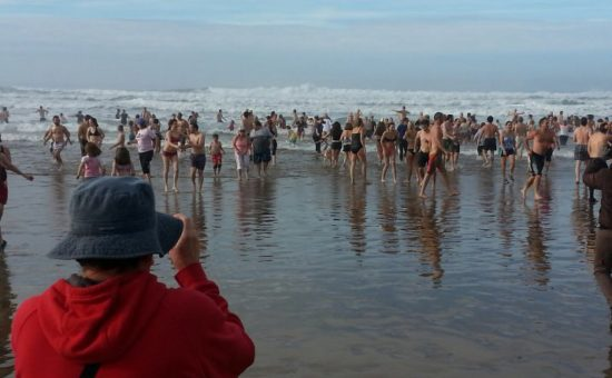 The water temperature was a chilly 49-degrees.