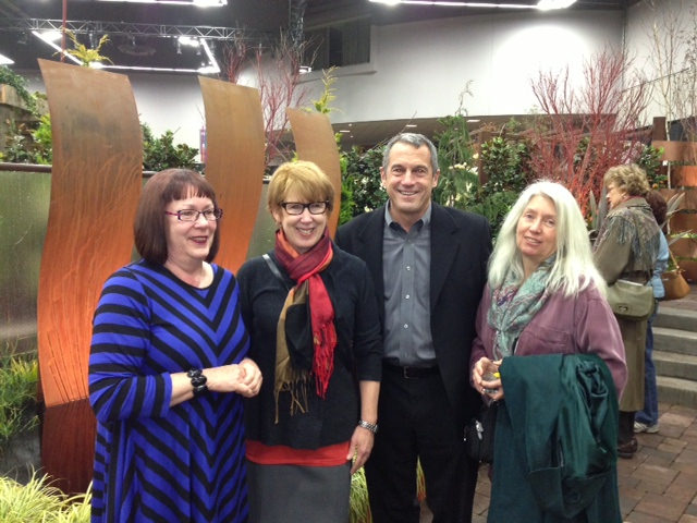 Lucy Hardiman worked on the Yard, Garden and Patio show committee, Valerie Easton is a Seattle Garden Writer, Jim Rondone is the President of Hardy Plants Society of Oregon, and Linda Wisner is with the Hardy Plant Society of Oregon.