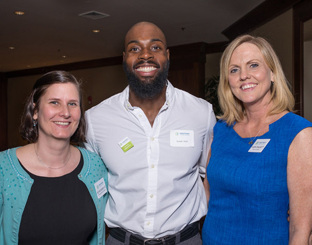Blythe Dolores Pavlik, Morrison Child and Family Services; Isaiah Holt, TEDxPortland Speaker; and Karin Baggett, Morrison Child and Family Services