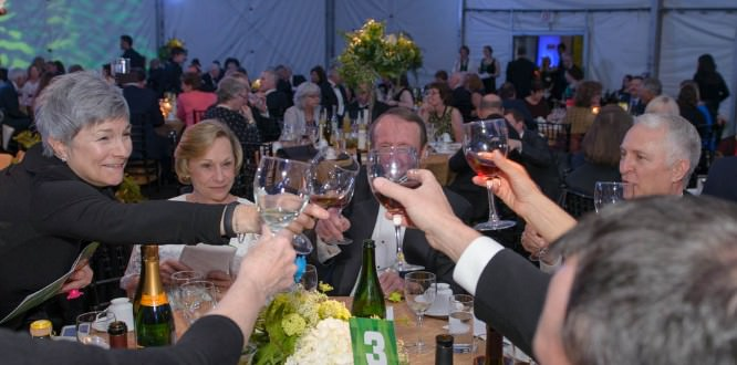 Supporters raised their glasses to honor OMSI.