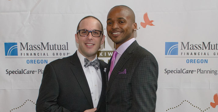 MassMutual's Ryan Wayman with Adrian Brown