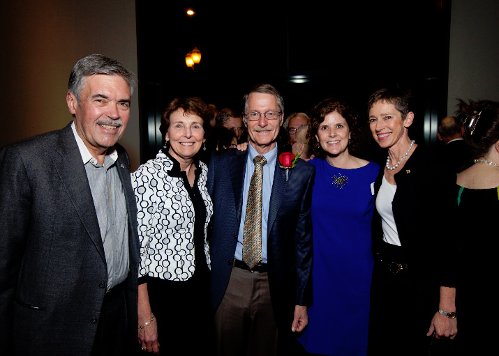 Bob Stoll, Simon Benson Award for Philanthropy recipients  Christine and David Vernier, Mary Sorteberg, and Barre Stoll