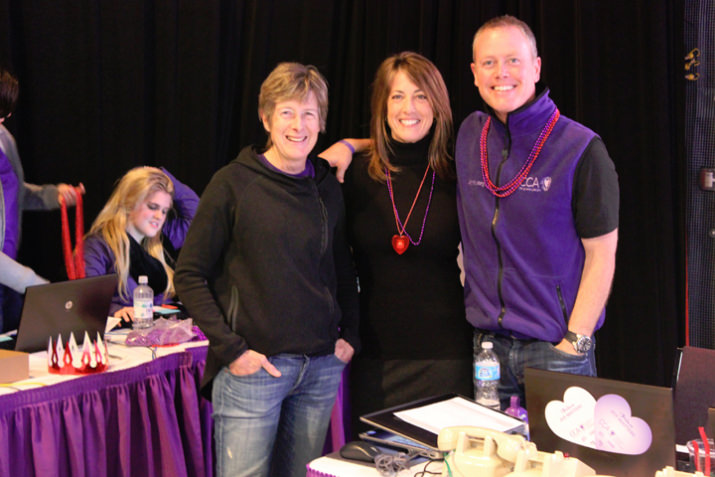 CCA's power three: Clare Hamill, VP Global Growth Initiatives, Nike Inc. and Founding Board Chair and current Board Member, Regina Ellis, CCA's Founder and Chief Joy Officer, and Andy Lytle, Division Vice President at Jackson Family Wines and CCA's current Board Chair. During the final two hours of the Valentine-A-Thon, Clare and Andy both offered up matching hours so donors could double their gifts.