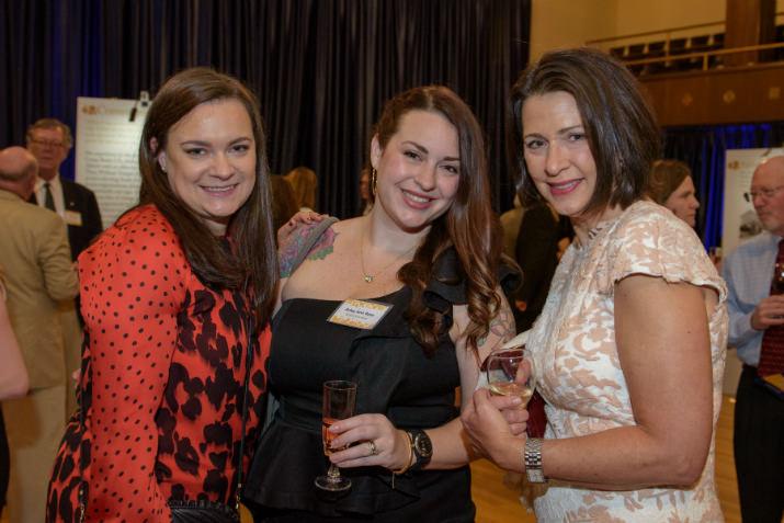 Alison Monti, William Temple House Board Secretary Arley Ross, and Ann McCulloch