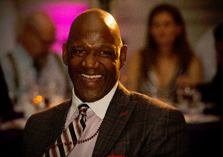 Doernbecher Foundation Board Member and former Portland Trail Blazer Terry Porter is all smiles at the Heart of Doernbecher.