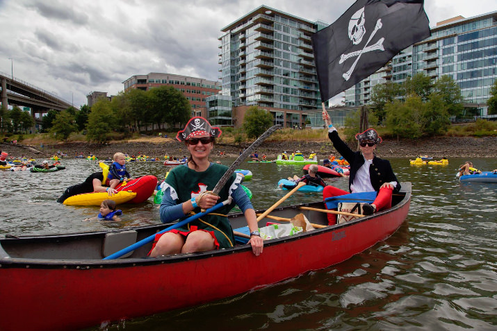 The pirates were out in force including  Brandon CS Sanders and Max at Willamette River.