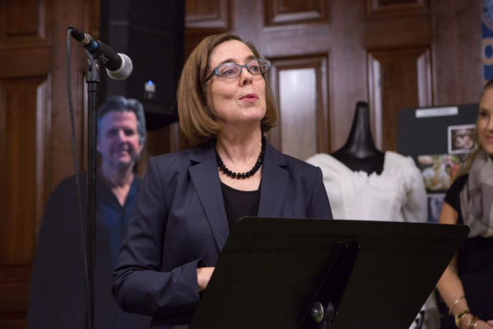 "Govoner Kate Brown told the crowd, ""Thanks to shows like this, film and media production in the state has increased 75% in the last two years."""