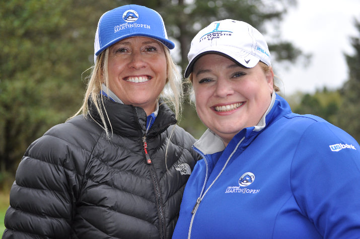 Stephanie Snyder and her longtime friend and supporter of the tournament, Sydney Van Dusen, at the 13th Annual Martin Open.