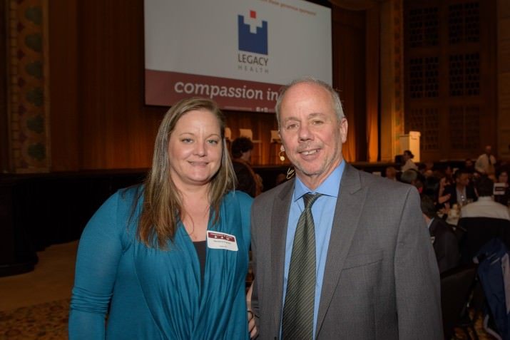 Randena Franke, featured CCC success story, with Executive Director Ed Blackburn