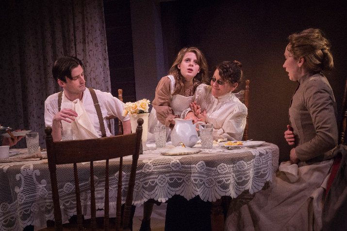 Artists Rep_The Miracle Worker__Joshua Weinstein, Agatha Olson, Val Landrum, Amy Newman_photo by Owen Carey