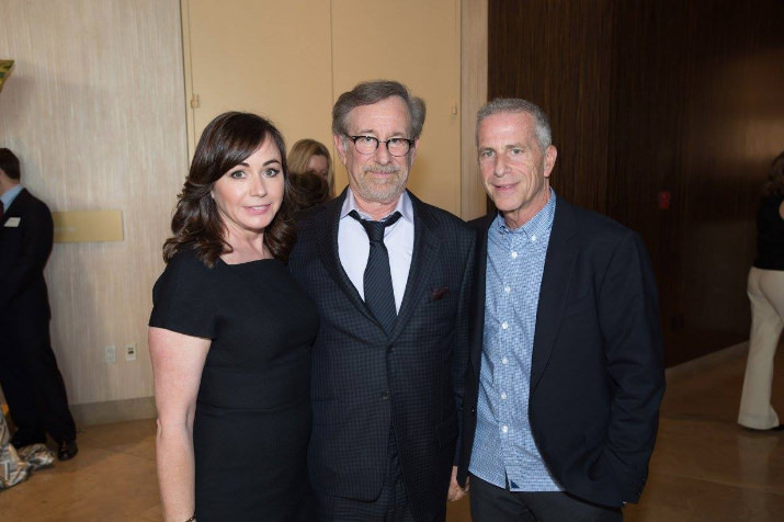 Oscar® nominees Kristie Macosko, Steven Spielberg and Marc E Platt at the Oscar® Nominees Luncheon in Beverly Hills Monday, February 8, 2016.