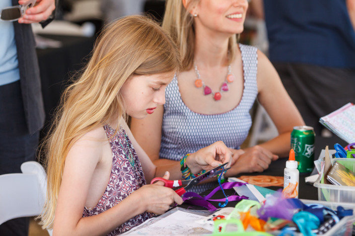 The Oregon Polo Classic Family Day featured fun and exciting activities for the whole family including a fancy hat crafting station from SCRAP PDX as well as other art activities from CHAP (Children Healing Arts Project).