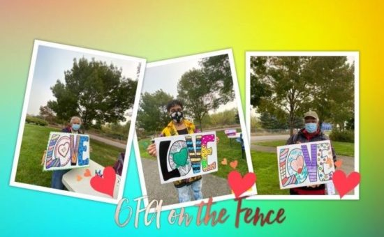 """Nonprofits Come Together to Lift Spirits With Colorful """"LOVE on the Fence"""""""